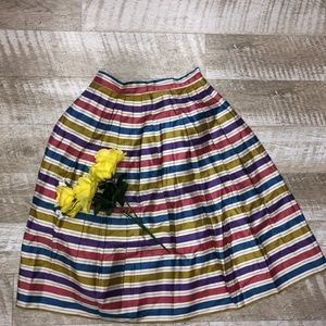 Colorful Stripe and Pleated Skirt Size 10